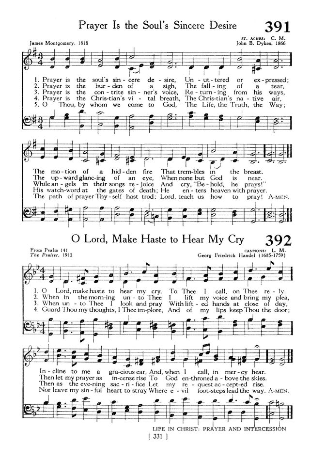 The Hymnbook 391  Prayer is the soul's sincere desire