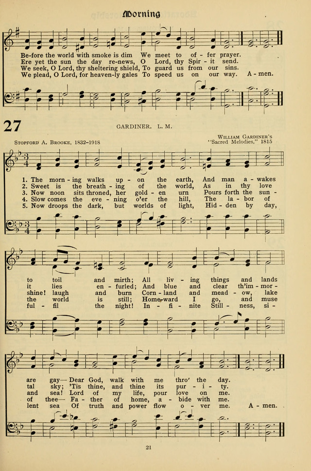Hymns for the Living Age page 21