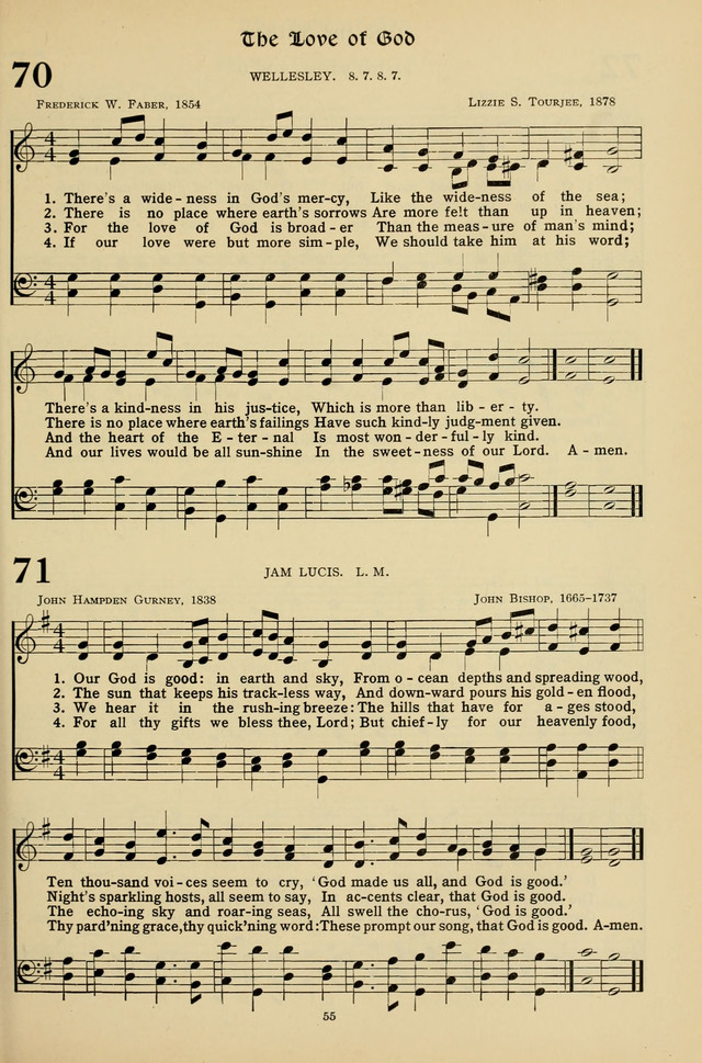 Hymns for the Living Age page 55