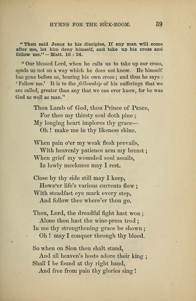 Hymns for the Sick-Room page 39