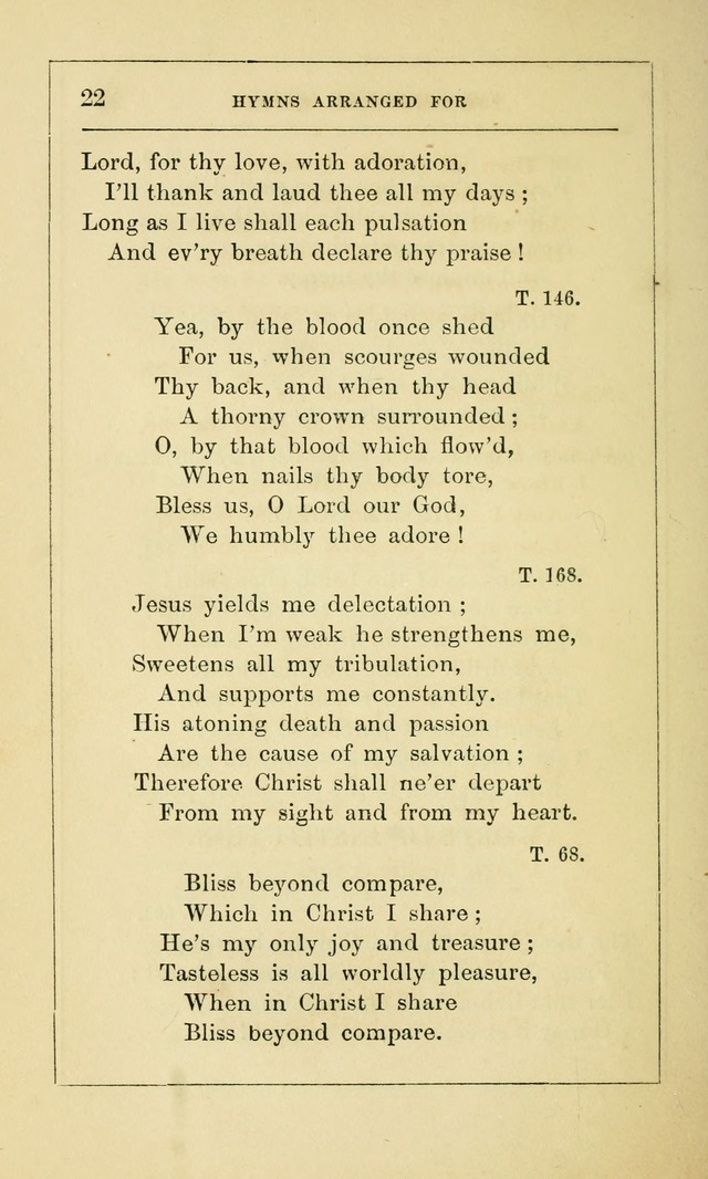 Hymns Arranged for the Communion Service of the Church of the United Brethren page 22