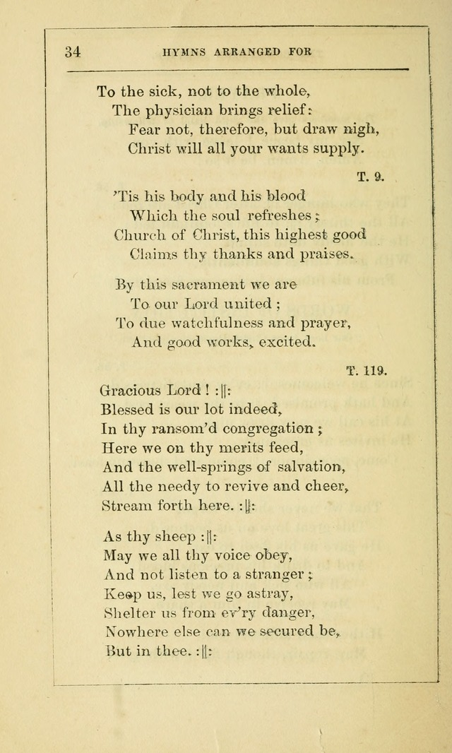Hymns Arranged for the Communion Service of the Church of the United Brethren page 34
