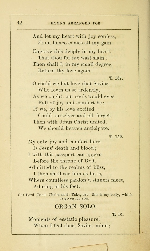 Hymns Arranged for the Communion Service of the Church of the United Brethren page 42