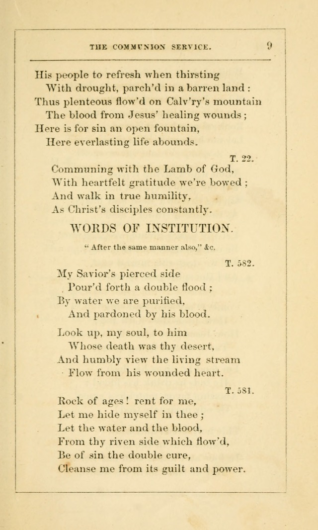 Hymns Arranged for the Communion Service of the Church of the United Brethren page 9