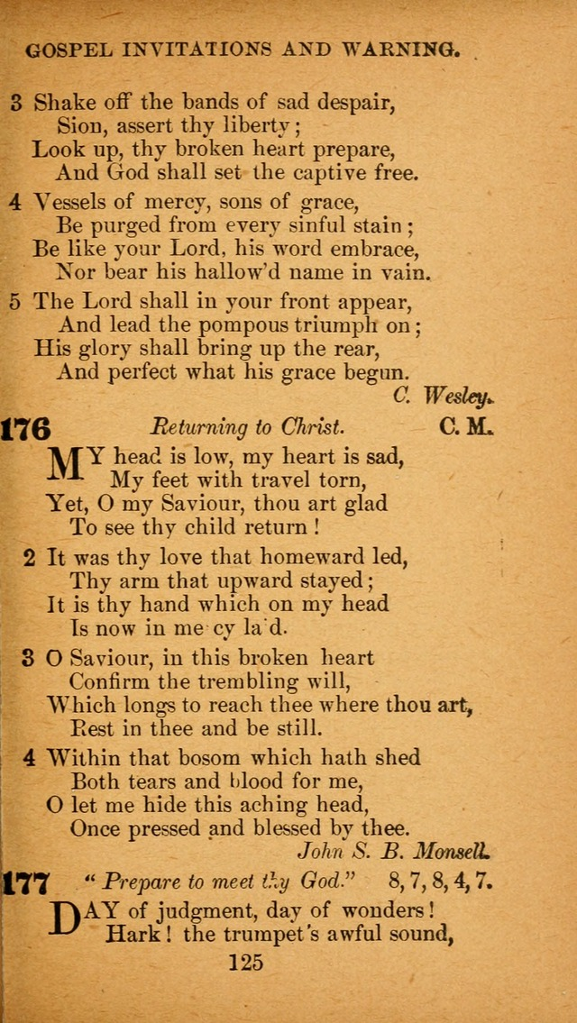 Hymnal Adapted to the Doctrines and Usages of the African Methodist Episcopal Church. Revised Edition page 129