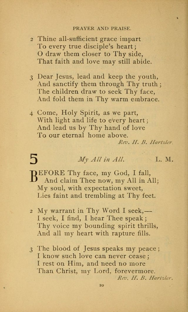 Hymn Book of the United Evangelical Church page 10