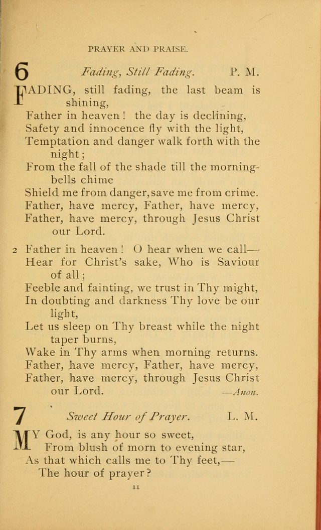 Hymn Book of the United Evangelical Church page 11