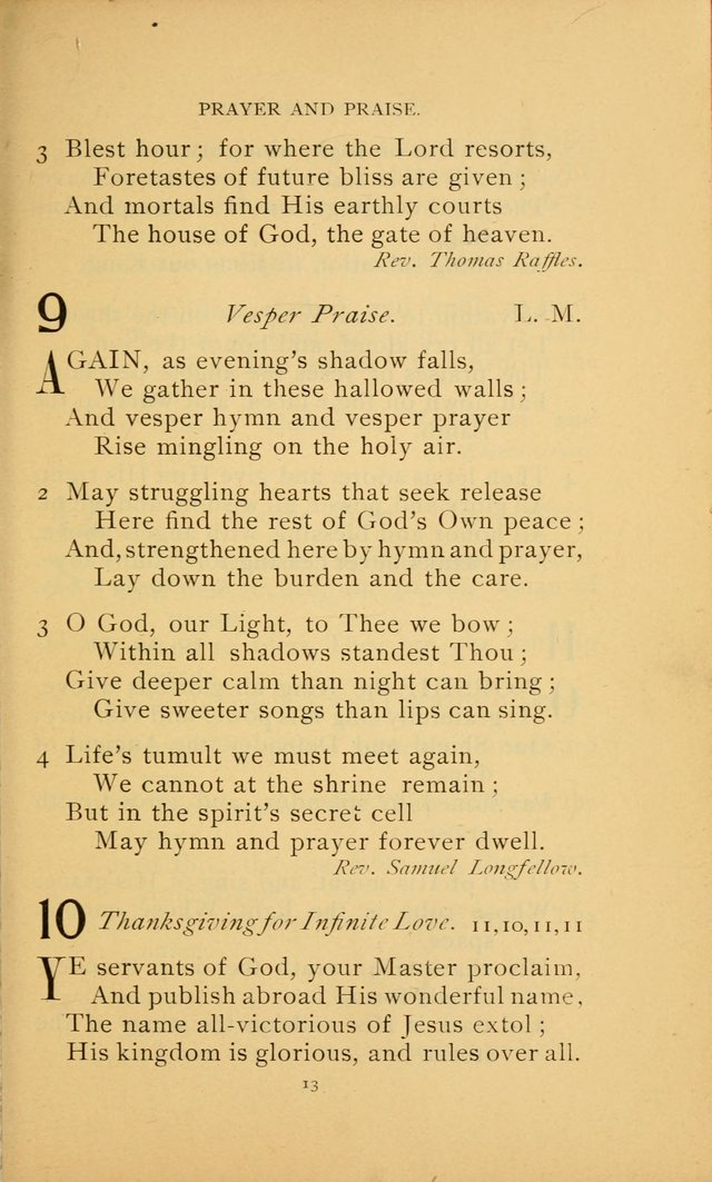 Hymn Book of the United Evangelical Church page 13