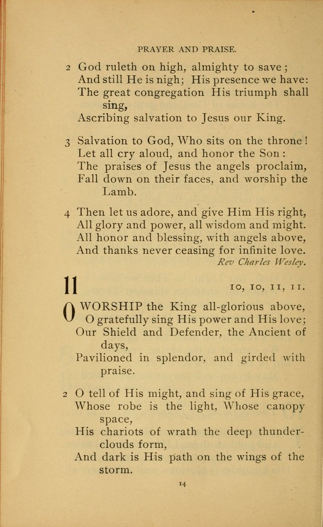 Hymn Book of the United Evangelical Church page 14