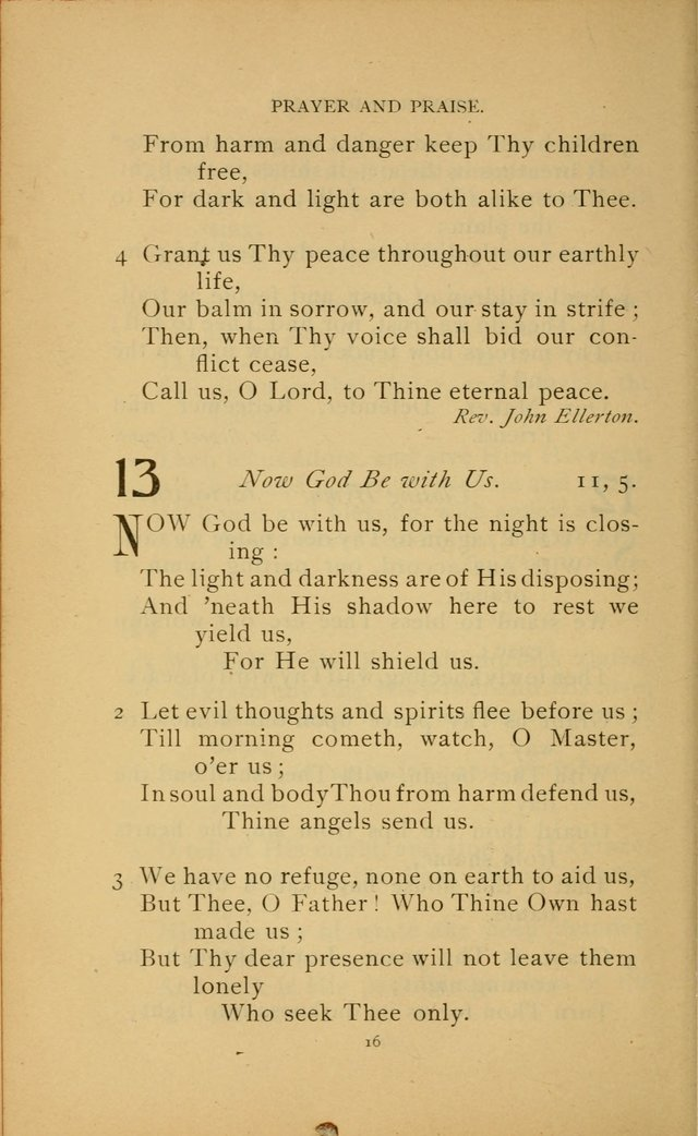 Hymn Book of the United Evangelical Church page 16