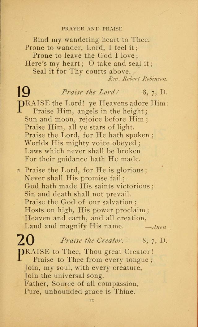 Hymn Book of the United Evangelical Church page 21