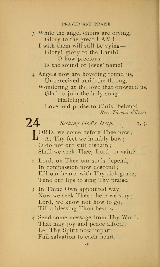 Hymn Book of the United Evangelical Church page 24