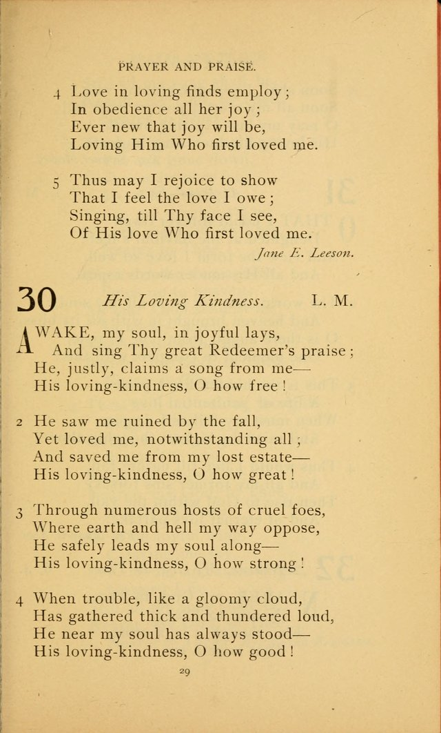Hymn Book of the United Evangelical Church page 29