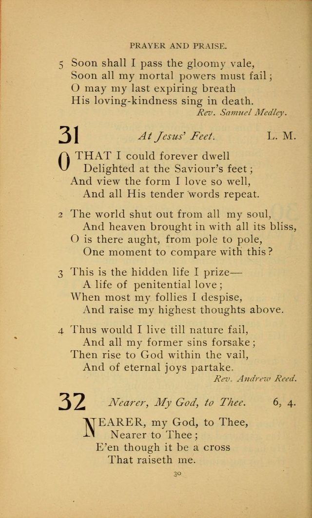 Hymn Book of the United Evangelical Church page 30