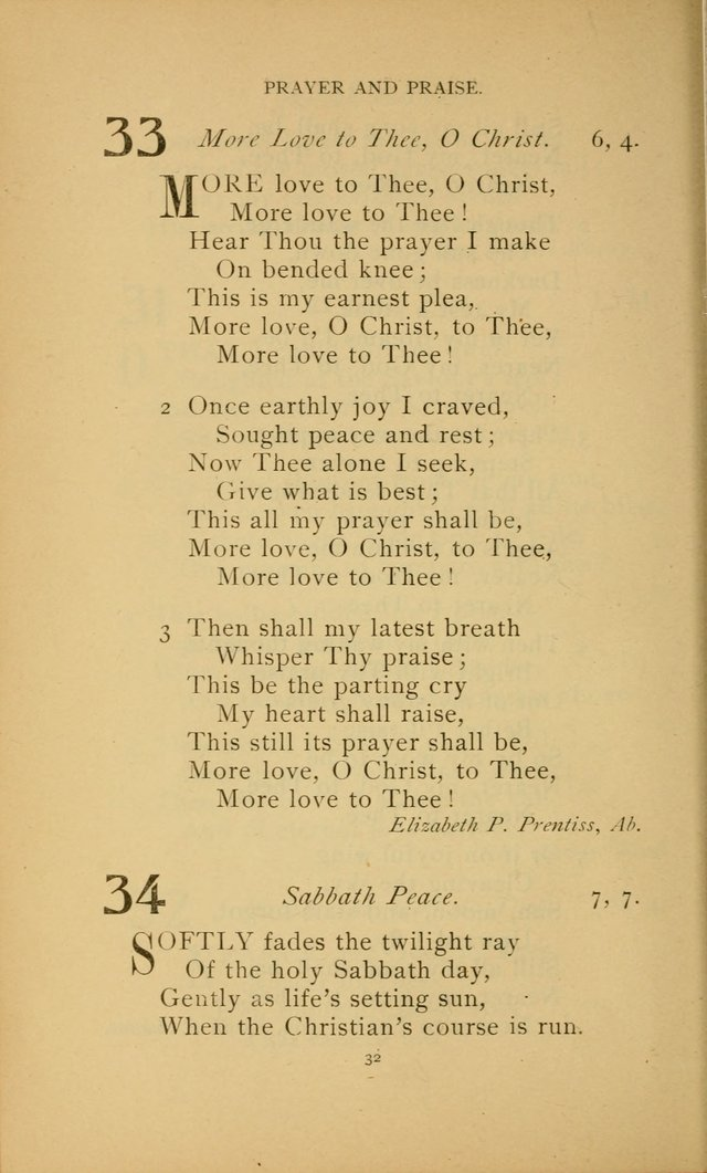 Hymn Book of the United Evangelical Church page 32
