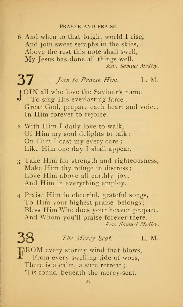 Hymn Book of the United Evangelical Church page 35