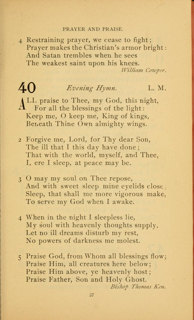 Hymn Book of the United Evangelical Church page 37