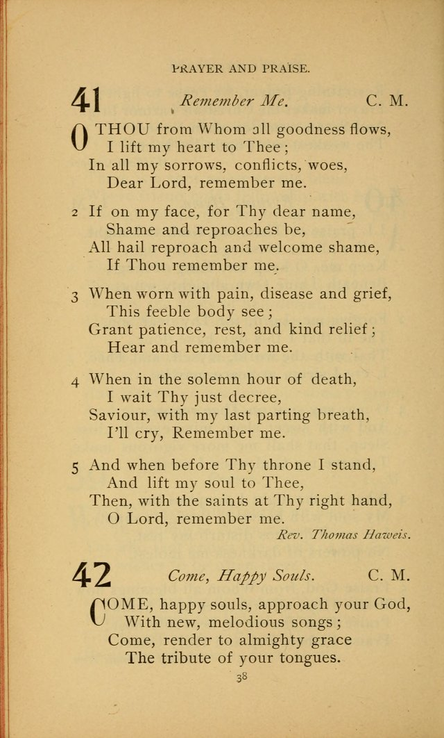 Hymn Book of the United Evangelical Church page 38