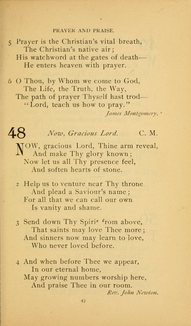 Hymn Book of the United Evangelical Church page 43