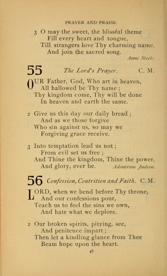 Hymn Book of the United Evangelical Church page 48