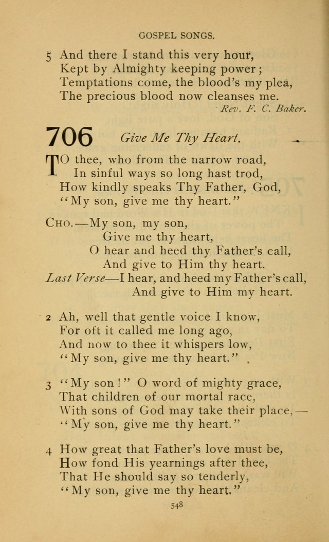 Hymn Book of the United Evangelical Church page 548