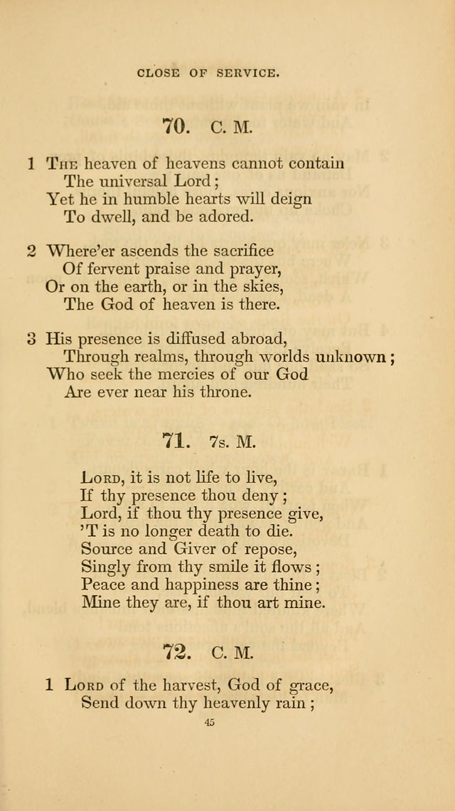 Hymns for the Church of Christ. (6th thousand) page 45