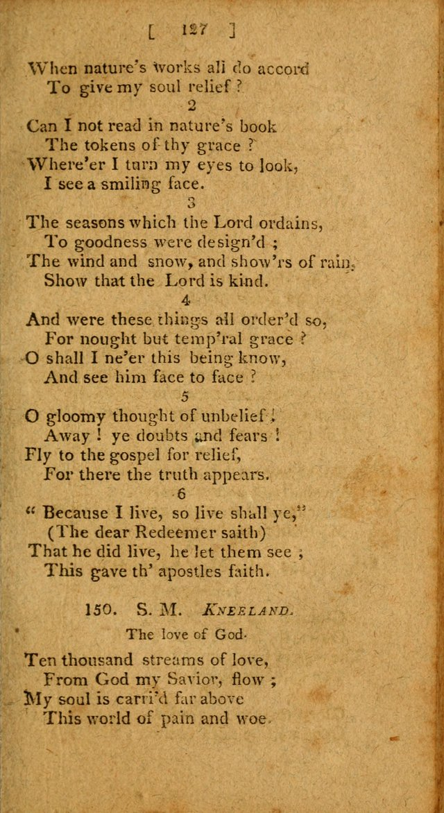 Hymns: composed by different authors, by order of the General Convention of Universalists of the New-England States and Others. Adapted to public and private devotion page 127