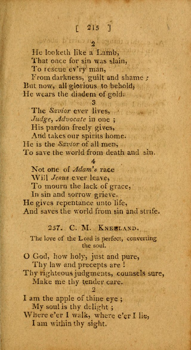 Hymns: composed by different authors, by order of the General Convention of Universalists of the New-England States and Others. Adapted to public and private devotion page 215