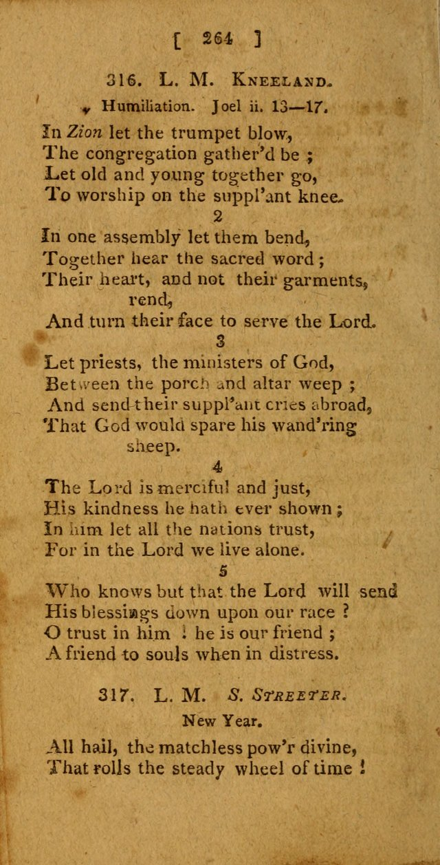 Hymns: composed by different authors, by order of the General Convention of Universalists of the New-England States and Others. Adapted to public and private devotion page 264