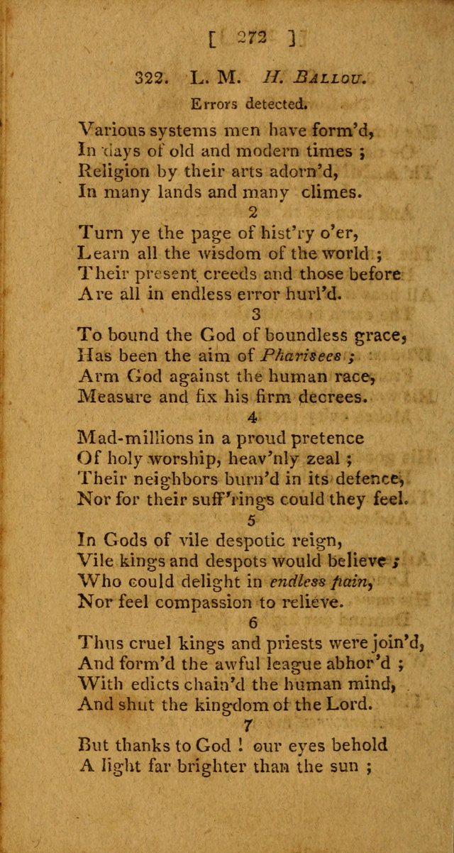 Hymns: composed by different authors, by order of the General Convention of Universalists of the New-England States and Others. Adapted to public and private devotion page 272