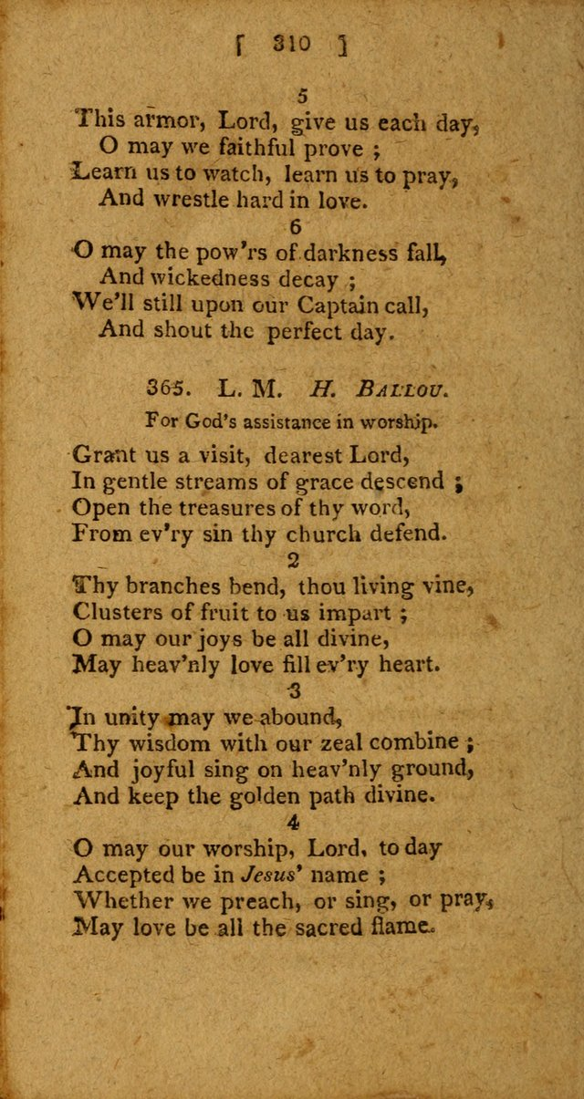 Hymns: composed by different authors, by order of the General Convention of Universalists of the New-England States and Others. Adapted to public and private devotion page 310