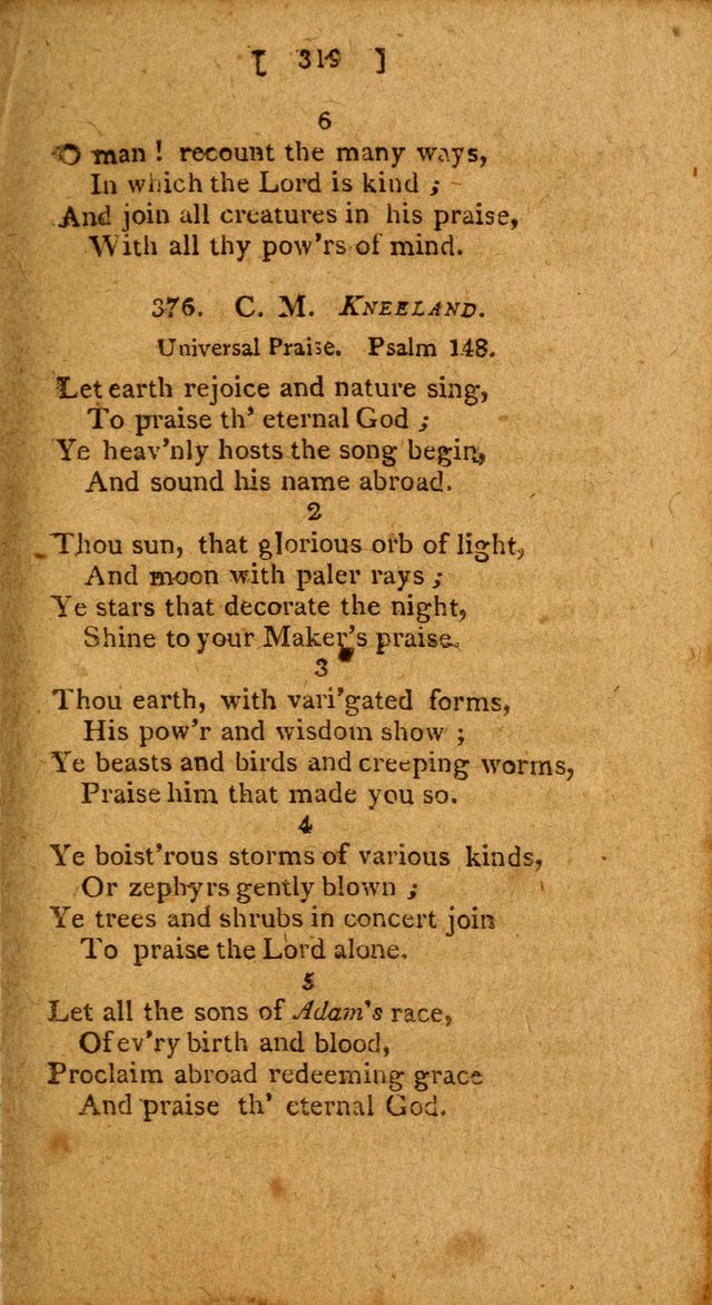 Hymns: composed by different authors, by order of the General Convention of Universalists of the New-England States and Others. Adapted to public and private devotion page 319