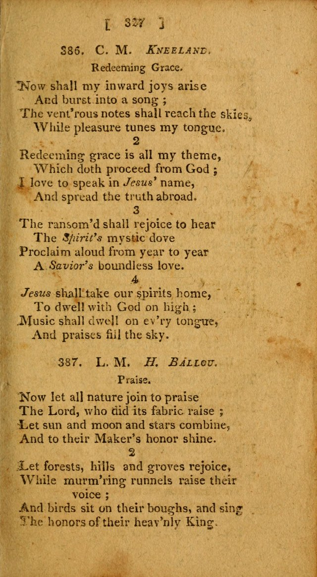 Hymns: composed by different authors, by order of the General Convention of Universalists of the New-England States and Others. Adapted to public and private devotion page 327