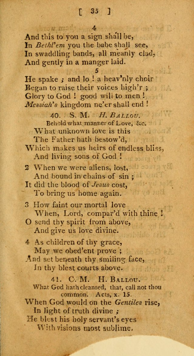 Hymns: composed by different authors, by order of the General Convention of Universalists of the New-England States and Others. Adapted to public and private devotion page 35