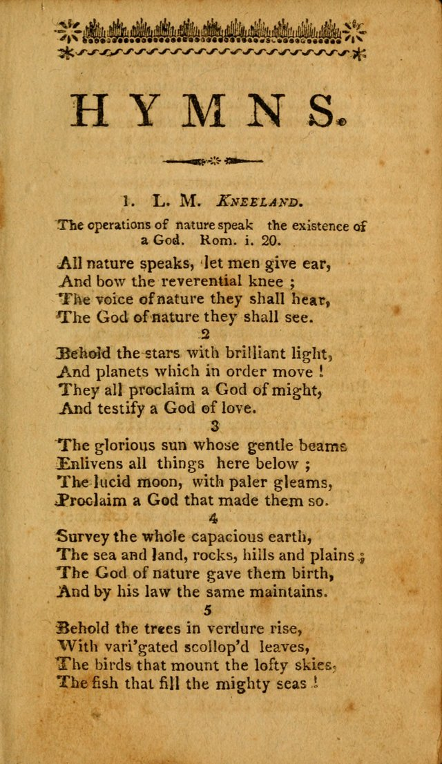 Hymns: composed by different authors, by order of the General Convention of Universalists of the New-England States and Others. Adapted to public and private devotion page 5