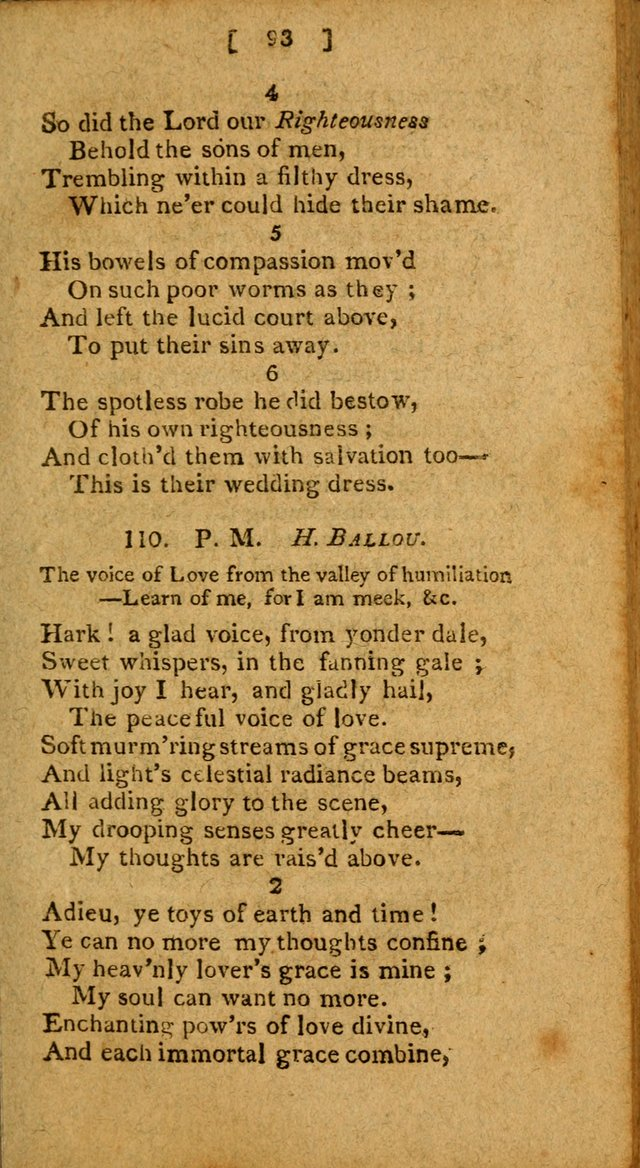 Hymns: composed by different authors, by order of the General Convention of Universalists of the New-England States and Others. Adapted to public and private devotion page 93