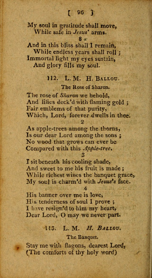 Hymns: composed by different authors, by order of the General Convention of Universalists of the New-England States and Others. Adapted to public and private devotion page 96