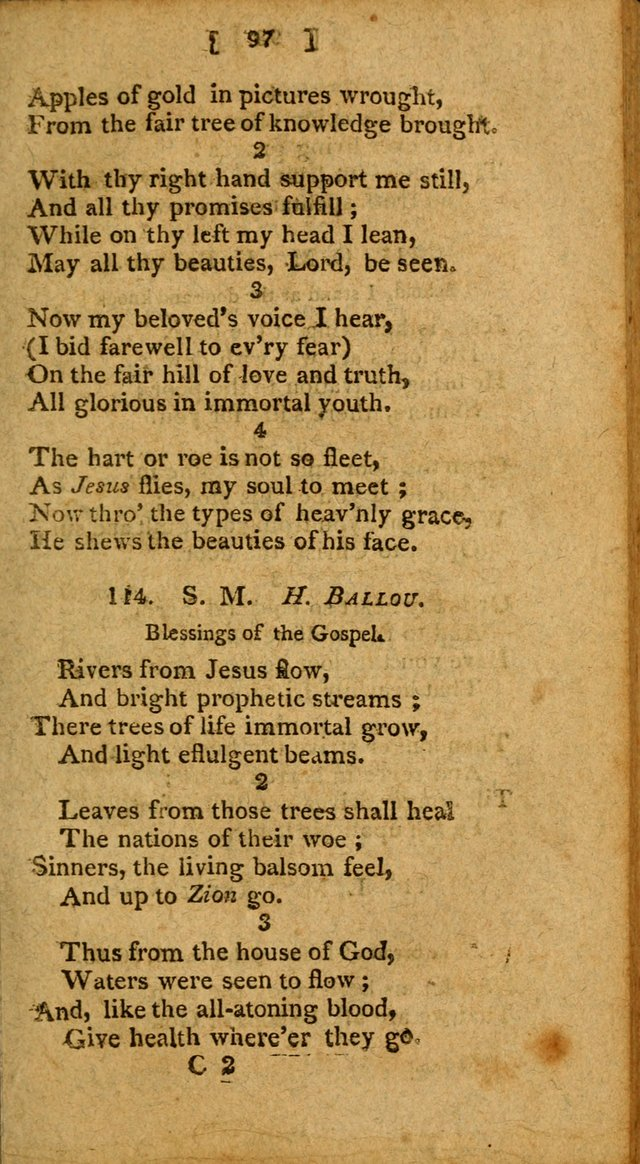 Hymns: composed by different authors, by order of the General Convention of Universalists of the New-England States and Others. Adapted to public and private devotion page 97