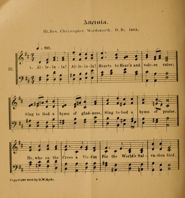 Hymns and Carols for Easter Day. (2nd ed.) page 8