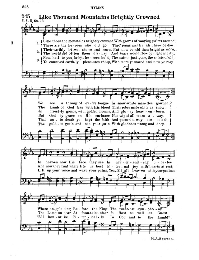 Hymnal for Church and Home page 249