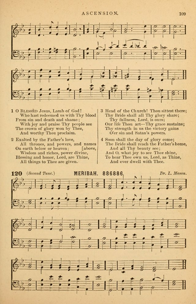Hymnal Companion to the Prayer Book: suited to the special seasons of the Christian year, and other occasions of public worship, as well as for use in the Sunday-school...With accompanying tunes page 110