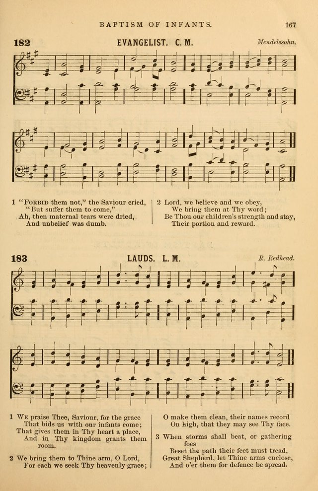 Hymnal Companion to the Prayer Book: suited to the special seasons of the Christian year, and other occasions of public worship, as well as for use in the Sunday-school...With accompanying tunes page 168