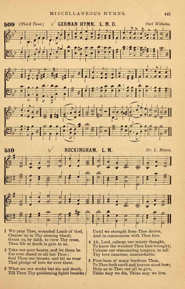 Hymnal Companion to the Prayer Book: suited to the special seasons of the Christian year, and other occasions of public worship, as well as for use in the Sunday-school...With accompanying tunes page 448