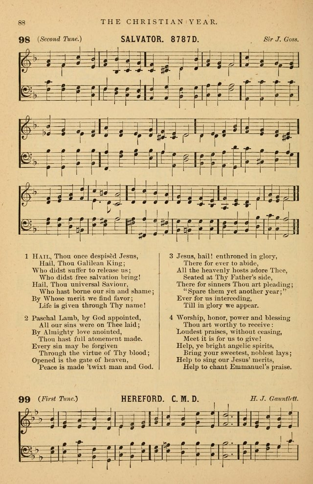 Hymnal Companion to the Prayer Book: suited to the special seasons of the Christian year, and other occasions of public worship, as well as for use in the Sunday-school...With accompanying tunes page 89