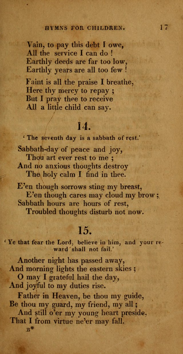Hymns for Children, Selected and Altered page 10