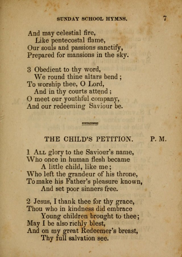 Hymns Composed for the Use of Sunday Schools, and Youthful Christians page 7