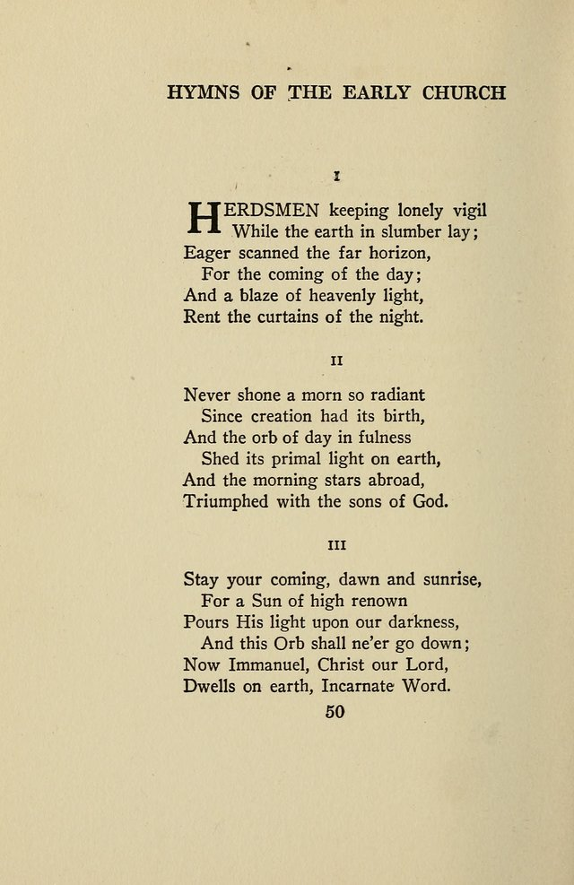 Hymns of the Early Church: translated from Greek and Latin sources; together with translations from a later period; centos and suggestions from the Greek; and several original pieces page 50