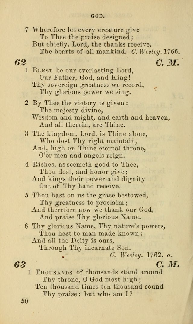 Hymns for the use of the Evangelical Lutheran Church, by the Authority of the Ministerium of Pennsylvania page 50