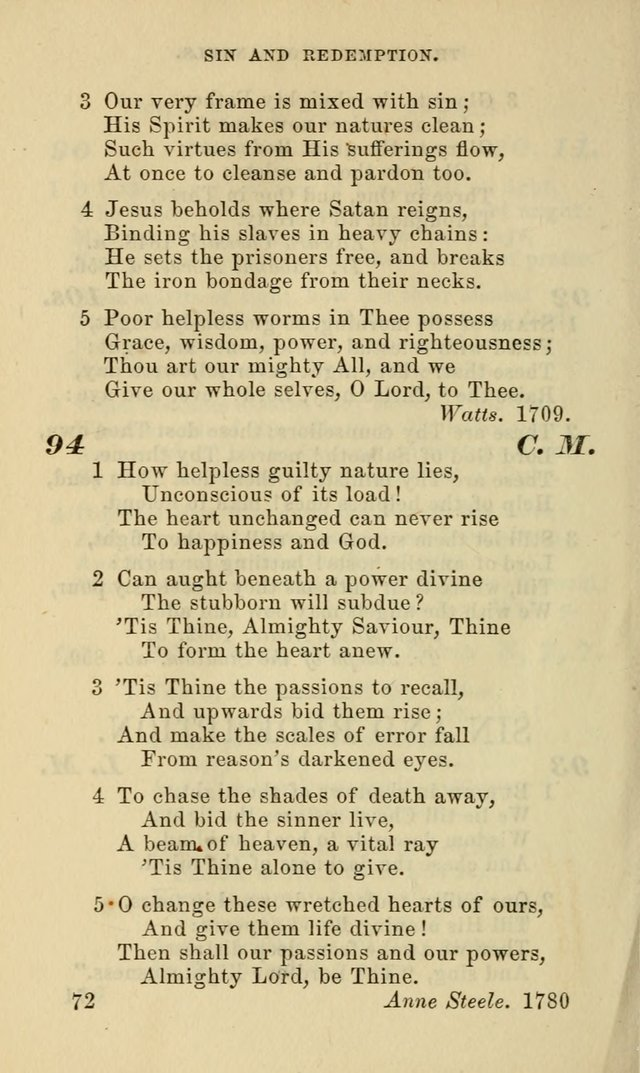 Hymns for the use of the Evangelical Lutheran Church, by the Authority of the Ministerium of Pennsylvania page 72