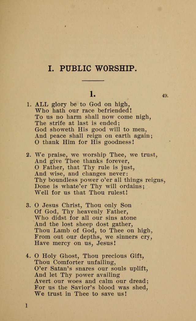 Hymnal for Evangelical Lutheran Missions page 1